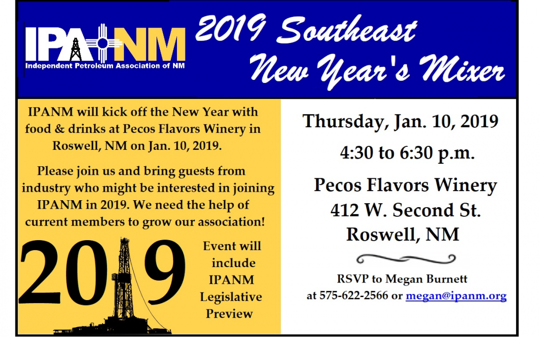 Southeast New Year's Mixer/Legislative Preview set for Jan. 10 in Roswell